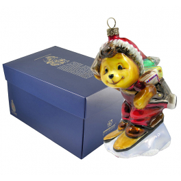 Елочная игрушка Komozja Family «Мишка-почтальон», ручная работа