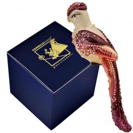 Стеклянная елочная игрушка «Райская птица», 17х3 см