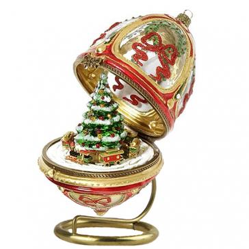 Музыкальная шкатулка ручной работы «Новогодний дилижанс», Komozja Family, Польша