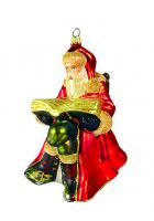 Елочная игрушка «Дед Мороз с книгой»
