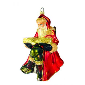 Елочная игрушка Komozja Family «Дед Мороз с книгой», Польша