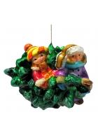 Ёлочная игрушка «Малыши с ёлочкой»