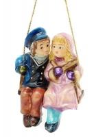 Елочная игрушка «Пара на качелях»