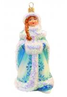 Елочная игрушка «Снегурочка с муфтой»