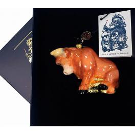 Елочная игрушка в виде быка «Удачи и достатка», Komozja и Mostowski