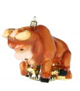 Елочная игрушка «Денежный бык»