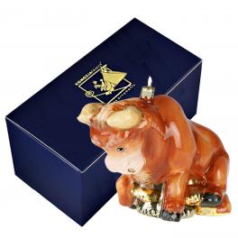 Елочная игрушка в виде символа 2021 года «Денежный бык», Komozja и Mostowski