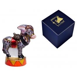 Елочная игрушка «Цирковой ослик» в фирменной упаковке