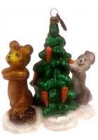 Елочная игрушка «Раз морковка, два морковка, три!»