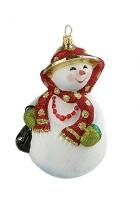Елочная игрушка «Снеговичка»