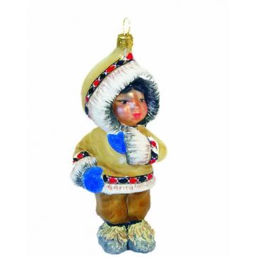 Елочная игрушка ручной работы «Малышка в шубке»