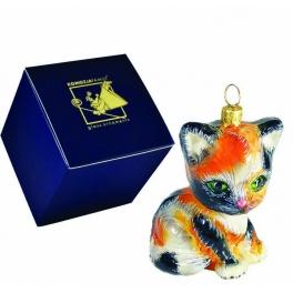 Елочная игрушка «Котик Удача», 7х5 см