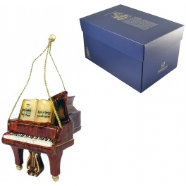 Елочная игрушка из стекла «Фортепиано», ручная работа