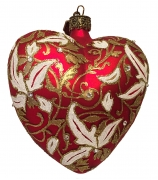 Елочный шар-сердце «Модерн»
