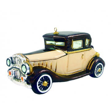 Елочная игрушка из стекла «Ретро автомобиль», Komozja Family, Польша