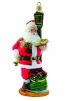 Елочная игрушка «Санта под фонарём»