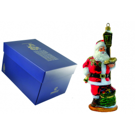 Елочная игрушка Komozja Family «Санта под фонарём», производство Польша