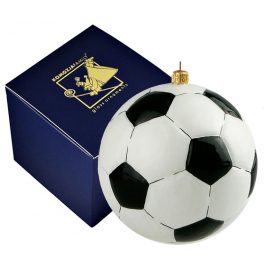 Елочная игрушка ручной работы «Футбольный мяч», Польша, Komozja Family