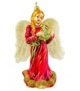 Елочная игрушка «Ангел с лирой»