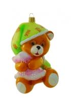 Елочная игрушка «Мишка в пижаме»