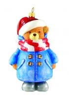 Елочная игрушка «Мишка в пальто»