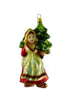 Елочная игрушка «Девушка с ёлочкой»