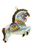 Елочная игрушка «Цирковая лошадка»