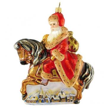 Елочная игрушка Komozja Family «Санта на коне», Польша