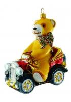 Елочная игрушка «Мишка в авто»