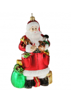 Елочная игрушка «Санта с игрушками»