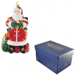 Елочная игрушка «Санта с игрушками», Komozja Family, Польша