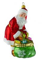 Елочная игрушка «Санта готовит подарки»