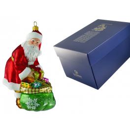 Елочная игрушка Komozja Family «Санта готовит подарки», ручная работа