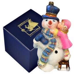 Стеклянная елочная игрушка «Приятели», Komozja Family, Польша