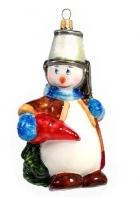 Елочная игрушка «Снеговик с морковкой»