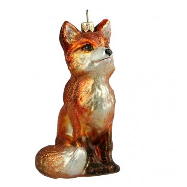 Елочная игрушка «Хитрая лиса», 10х6 см, Польша