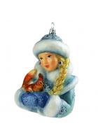 Елочная игрушка «Снегурочка с белочкой»