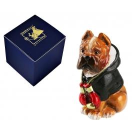 Стеклянная елочная игрушка в виде собаки «Чемпион»