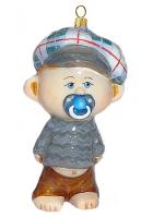 Елочная игрушка «Малыш с пустышкой»
