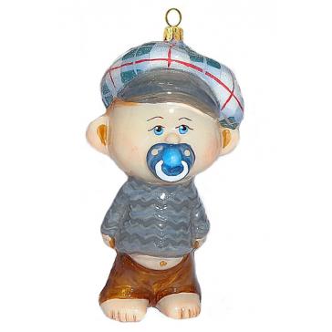 Стеклянная елочная игрушка «Малыш с пустышкой», Komozja & M.A. Mostowski