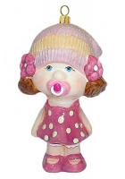 Елочная игрушка «Малышка с пустышкой»