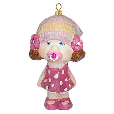 Стеклянная елочная игрушка «Малышка с пустышкой», Komozja & M.A. Mostowski