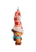 Елочная игрушка «Мишка – вязаный колпак»