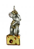Елочная игрушка «Мышка на сыре»
