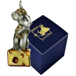 Елочная игрушка Komozja и Mostowski «Мышка на сыре», ручная работа