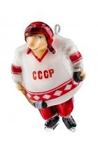 Елочная игрушка «Хоккеист»