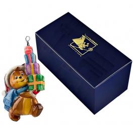 Игрушка на ёлку «Медвежонок с подарками», 12х7 см