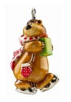 Елочная игрушка «Мишка-фигурист»