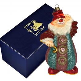 Ёлочная игрушка ручной работы «Клоун – рукава гармошка», украшение в фирменной упаковке