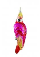 Елочная игрушка «Розовый попугайчик»